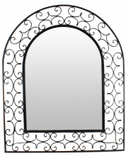 Moroccan Mirror Arch in Wrought Iron Handmade Extra Large 110 cm x 90 cm